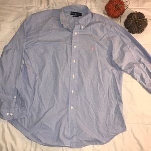 Ralph Lauren Classic Fit Button Down Blue/White